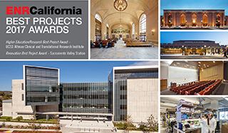 Honored with Two 2017 ENR California Best Projects Awards